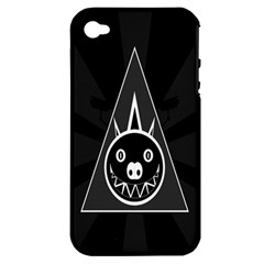 Abstract Pigs Triangle Apple iPhone 4/4S Hardshell Case (PC+Silicone)