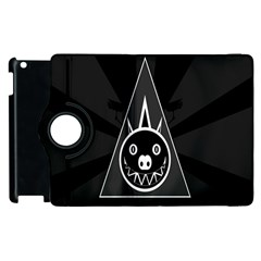 Abstract Pigs Triangle Apple Ipad 2 Flip 360 Case