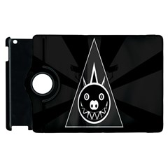 Abstract Pigs Triangle Apple iPad 3/4 Flip 360 Case