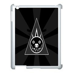Abstract Pigs Triangle Apple Ipad 3/4 Case (white)