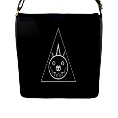 Abstract Pigs Triangle Flap Messenger Bag (L)