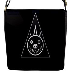 Abstract Pigs Triangle Flap Messenger Bag (s)