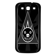 Abstract Pigs Triangle Samsung Galaxy S3 Back Case (Black)