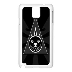 Abstract Pigs Triangle Samsung Galaxy Note 3 N9005 Case (White)