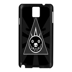Abstract Pigs Triangle Samsung Galaxy Note 3 N9005 Case (Black)