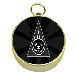 Abstract Pigs Triangle Gold Compasses