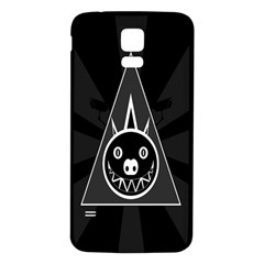 Abstract Pigs Triangle Samsung Galaxy S5 Back Case (White)