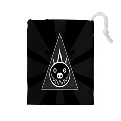 Abstract Pigs Triangle Drawstring Pouches (Large)