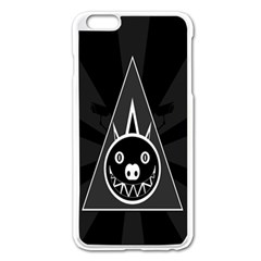 Abstract Pigs Triangle Apple iPhone 6 Plus/6S Plus Enamel White Case