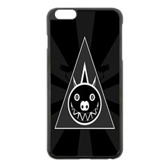 Abstract Pigs Triangle Apple iPhone 6 Plus/6S Plus Black Enamel Case