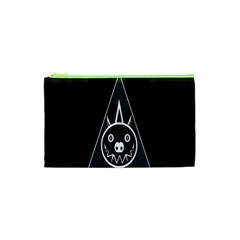Abstract Pigs Triangle Cosmetic Bag (xs)