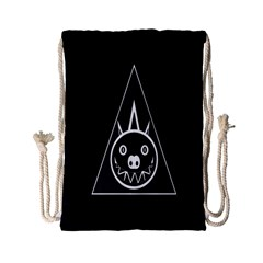 Abstract Pigs Triangle Drawstring Bag (small)