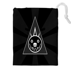 Abstract Pigs Triangle Drawstring Pouches (xxl)