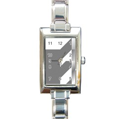 Gradient Base Rectangle Italian Charm Watch
