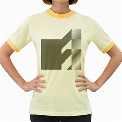 Gradient Base Women s Fitted Ringer T Shirts