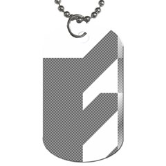 Gradient Base Dog Tag (one Side)