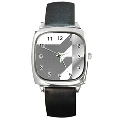 Gradient Base Square Metal Watch