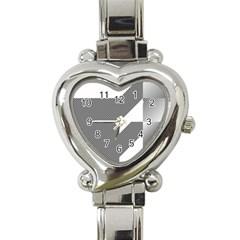 Gradient Base Heart Italian Charm Watch