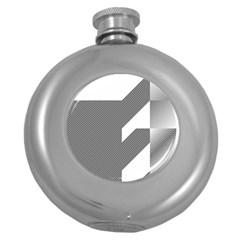 Gradient Base Round Hip Flask (5 oz)