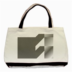 Gradient Base Basic Tote Bag (two Sides)