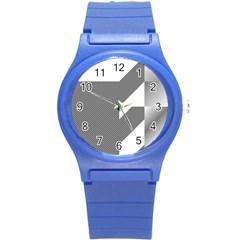 Gradient Base Round Plastic Sport Watch (S)
