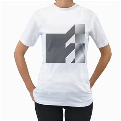 Gradient Base Women s T-Shirt (White)