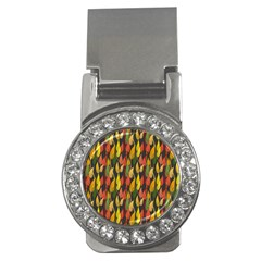 Colorful Leaves Yellow Red Green Grey Rainbow Leaf Money Clips (cz)