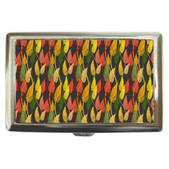 Colorful Leaves Yellow Red Green Grey Rainbow Leaf Cigarette Money Cases