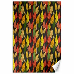 Colorful Leaves Yellow Red Green Grey Rainbow Leaf Canvas 20  X 30