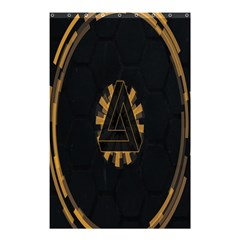 Geometry Interfaces Deus Ex Human Revolution Deus Ex Penrose Triangle Shower Curtain 48  X 72  (small)