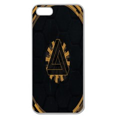 Geometry Interfaces Deus Ex Human Revolution Deus Ex Penrose Triangle Apple Seamless Iphone 5 Case (clear)