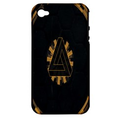 Geometry Interfaces Deus Ex Human Revolution Deus Ex Penrose Triangle Apple Iphone 4/4s Hardshell Case (pc+silicone)