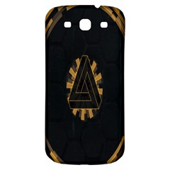 Geometry Interfaces Deus Ex Human Revolution Deus Ex Penrose Triangle Samsung Galaxy S3 S III Classic Hardshell Back Case