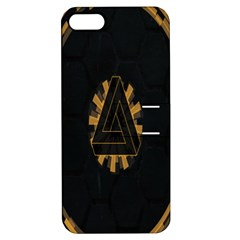 Geometry Interfaces Deus Ex Human Revolution Deus Ex Penrose Triangle Apple iPhone 5 Hardshell Case with Stand