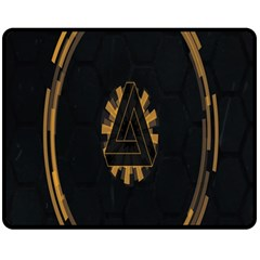 Geometry Interfaces Deus Ex Human Revolution Deus Ex Penrose Triangle Double Sided Fleece Blanket (Medium)