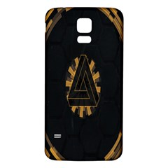 Geometry Interfaces Deus Ex Human Revolution Deus Ex Penrose Triangle Samsung Galaxy S5 Back Case (White)