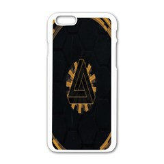 Geometry Interfaces Deus Ex Human Revolution Deus Ex Penrose Triangle Apple iPhone 6/6S White Enamel Case