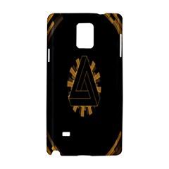 Geometry Interfaces Deus Ex Human Revolution Deus Ex Penrose Triangle Samsung Galaxy Note 4 Hardshell Case