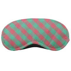 Cross Pink Green Gingham Digital Paper Sleeping Masks