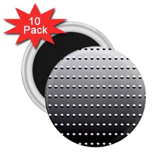 Gradient Oval Pattern 2.25  Magnets (10 pack)