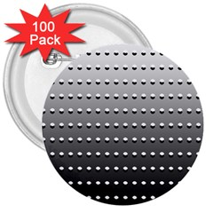 Gradient Oval Pattern 3  Buttons (100 Pack)