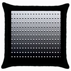 Gradient Oval Pattern Throw Pillow Case (Black)