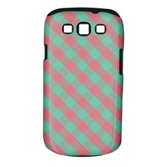 Cross Pink Green Gingham Digital Paper Samsung Galaxy S Iii Classic Hardshell Case (pc+silicone)