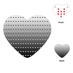 Gradient Oval Pattern Playing Cards (Heart)