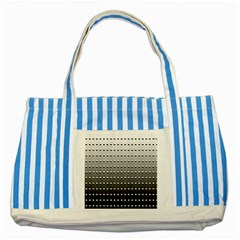 Gradient Oval Pattern Striped Blue Tote Bag