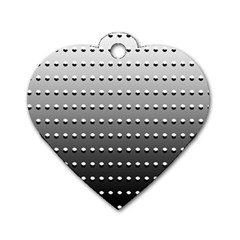 Gradient Oval Pattern Dog Tag Heart (one Side)