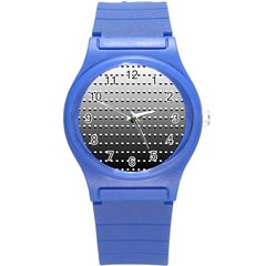 Gradient Oval Pattern Round Plastic Sport Watch (S)