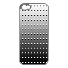Gradient Oval Pattern Apple Iphone 5 Case (silver)
