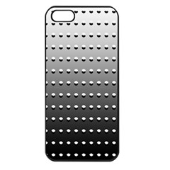 Gradient Oval Pattern Apple iPhone 5 Seamless Case (Black)