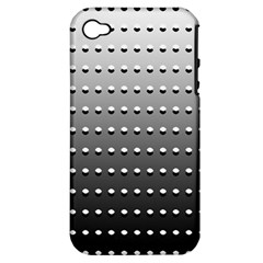 Gradient Oval Pattern Apple iPhone 4/4S Hardshell Case (PC+Silicone)
